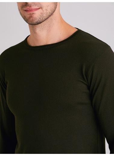 Dufy Grı Bısıklet Yaka Düz Erkek Trıko - Slım Fıt Siyah